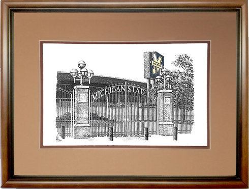 Michigan Stadium, Framed