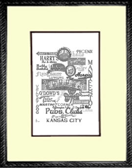 Kansas City Pubs and Clubs, Framed
