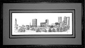 Tulsa Skyline, Framed