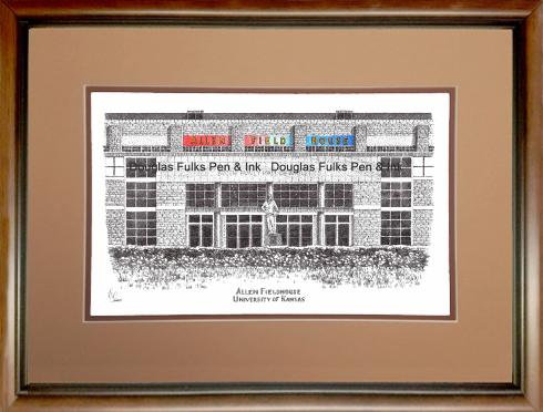 Allen Fieldhouse, framed