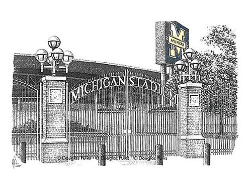 Michigan Stadium, Print