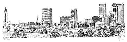 Tulsa Skyline, Print