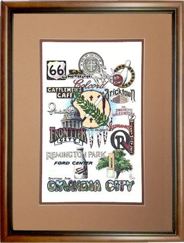Oklahoma City Oklahoma, Framed