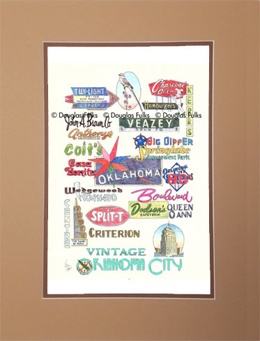 Oklahoma City, Vintage Matted