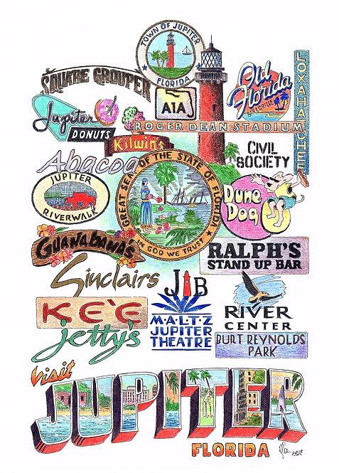 Jupiter, Florida print
