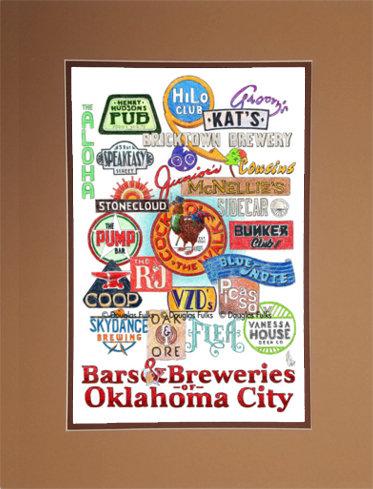 Oklahoma City - Bars of OKC  Matted