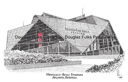 Mercedes Benz Stadium, print
