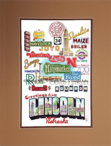 Lincoln, Nebraska Matted
