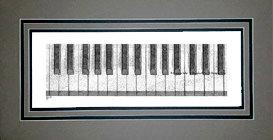 Piano Keys, Matted