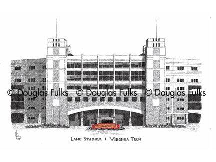 Lane Stadium, Print