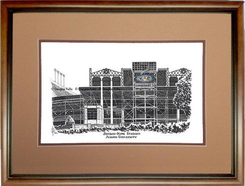 Jordan Hare Stadium, Framed