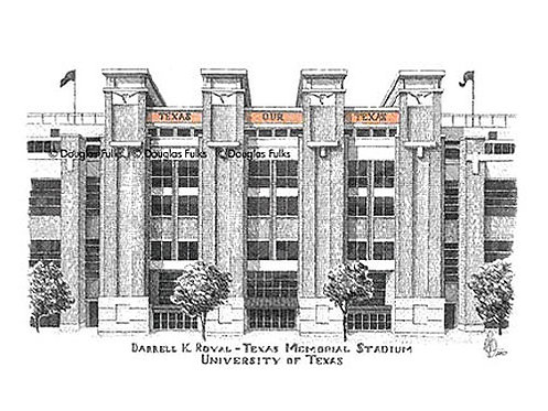 Darrell K Royal Stadium, Print