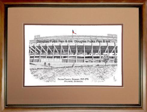 Fulton County Stadium, framed