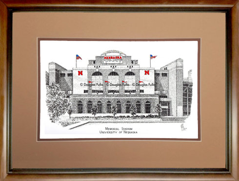 Memorial Stadium - NE, Framed