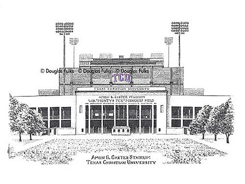 Amon G Carter Stadium, Print