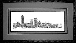 Des Moines Skyline, Framed