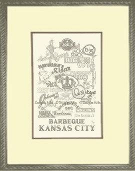 Kansas City, Barbeque KC Framed