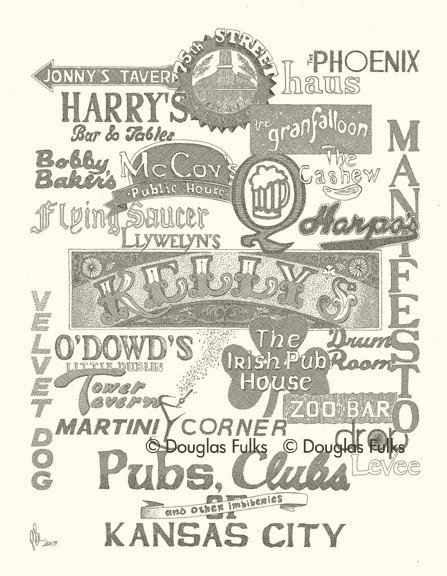 Kansas City Pubs and Clubs, Print
