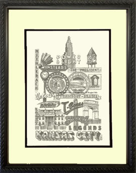 Kansas City Panoply #2, Framed