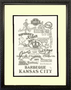 Barbeque Kansas City, Framed