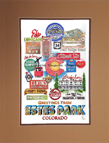 Estes Park, Colorado Matted