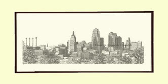Kansas City Skyline, Matted
