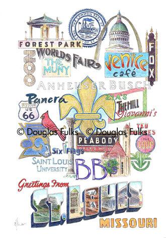 St. Louis, Missouri Print