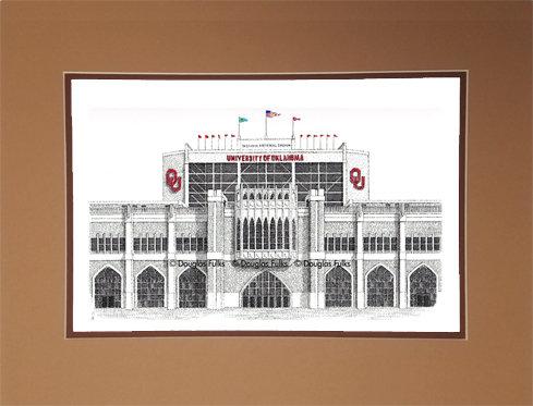 Oklahoma Univ Memorial Stadium, Matted