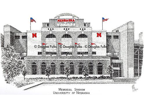 Memorial Stadium - NE, Print