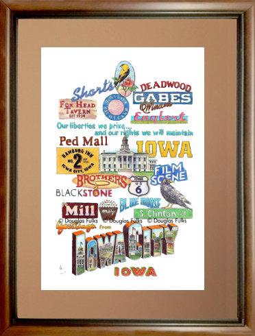 Iowa City, Iowa Framed