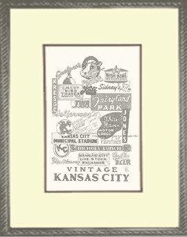 Vintage KC Panoply, Framed