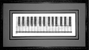 Piano Keys, Framed