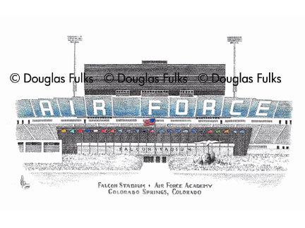 Falcon Stadium, Print