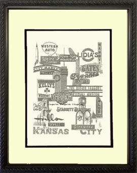 Kansas City Panoply #1, Framed