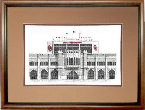 Oklahoma Univ Memorial Stadium, Framed