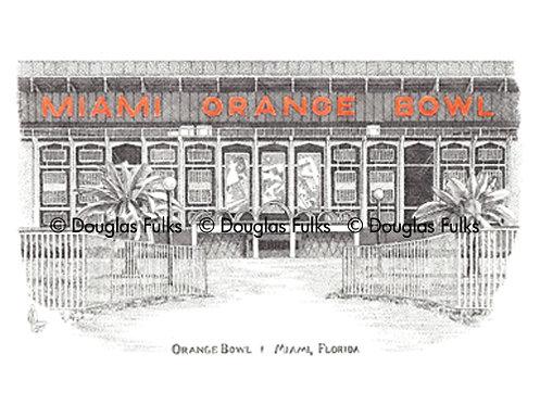 Orange Bowl, Print