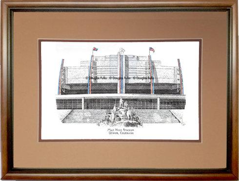 Mile High Stadium, Framed