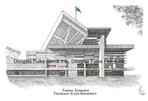 Canvas Stadium, print