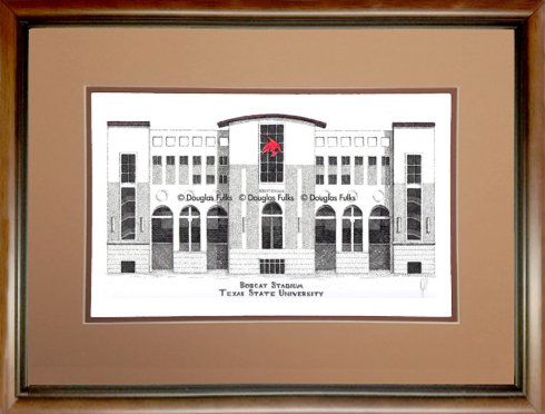 Bobcat Stadium, Framed