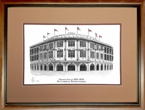 Forbes Field 1909-1970, framed