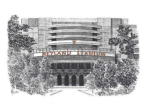Neyland Stadium, Print
