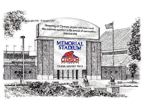 Memorial Stadium - SC, Print