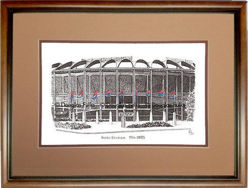 Busch Stadium, 1966 - 2003, Framed