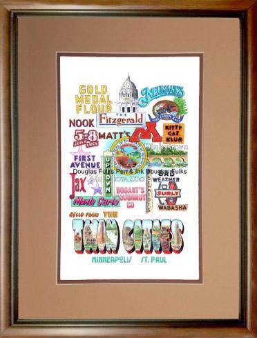 Minneapolis-St. Paul Panoply, framed