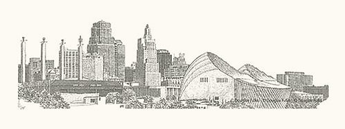 Urban KC Skyline, Print