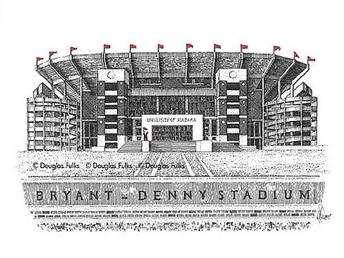 Bryant Denny Stadium, Print