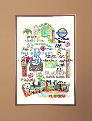 Palm Beaches, Florida Matted