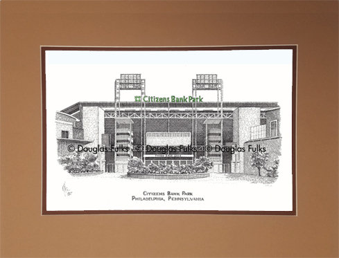Citizens Bank Park, PA Matted