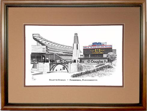 Gillette Stadium, Framed
