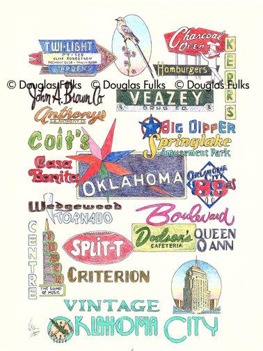 Oklahoma City, Vintage Print